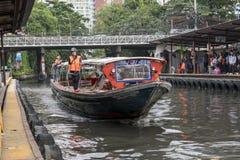 Wodna jawnego transportu prędkości łódź, Bangkok Thailand 11 Obrazy Royalty Free