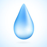 Wodna kropla ilustracja wektor