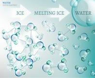 Wodna molekuła royalty ilustracja