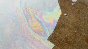 Wodna nafcianej plamy silky tęcza zdjęcia stock