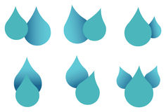 Wodna Opadowa ikona Ustawiająca Odizolowywającą na Białym tle Zdjęcia Royalty Free