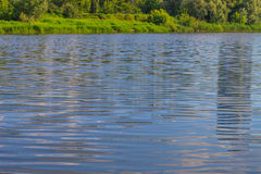 Wodna powierzchnia rzeczny Kharkiv Obrazy Royalty Free