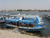 Wodna taxi stacja na Nil rzece Zdjęcia Royalty Free