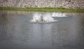 Wodna turbina w stawowej tlen wodzie obrazy royalty free