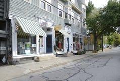 Wodna ulica w Stonington Connecticut obrazy stock