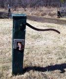 Wodna Well pompa umieszczająca w gospodarstwie rolnym przygotowywającym pompować wodę Zdjęcie Royalty Free