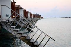 Wodna willa przy Maldives Zdjęcia Stock
