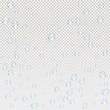 Wodne deszcz krople royalty ilustracja
