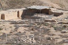 Wodne Fabryczne ruiny, Tel Piwny Sheva, Izrael obraz stock