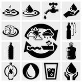Wodne wektorowe ikony ustawiać. Obrazy Royalty Free