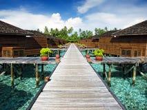 Wodne wille, Maldives Zdjęcia Stock