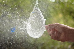 Wodnego balonu wybuch Fotografia Royalty Free