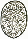 Wodnego colour maski ilustracja royalty ilustracja