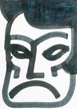 Wodnego colour maski ilustracja ilustracji