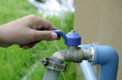 Wodnego faucet rękojeści. Zdjęcia Royalty Free