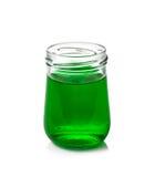 Wodnego koloru butelki odizolowywać na bielu Zdjęcie Royalty Free