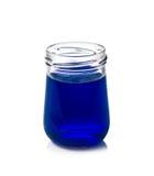 Wodnego koloru butelki odizolowywać na bielu Zdjęcia Royalty Free