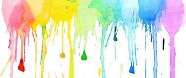 Wodnego koloru pluśnięcia tło Fotografia Stock
