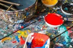 Wodnego koloru rysunek, maluje i szczotkuje ilustracja wektor