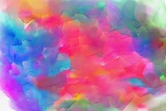 Wodnego koloru tło, Kolorowy textured tło - wizerunek zdjęcia stock