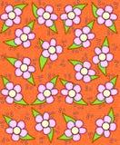Wodnego koloru wiosna w pomarańcze Zdjęcie Stock