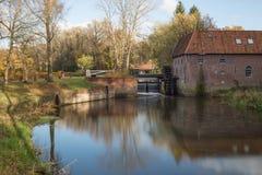 Wodnego młynu berenschot w Winterswijk w holandiach Obrazy Royalty Free