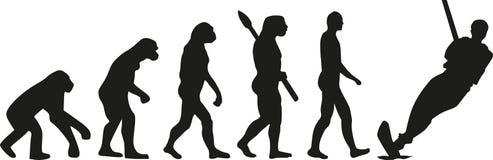 Wodnego narciarstwa ewolucja ilustracji