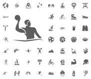 Wodnego polo ikona Sporta ilustracyjnego wektoru ustalone ikony Set 48 sportów ikon ilustracji