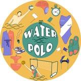 Wodnego polo logo Obraz Stock