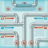 Wodnej drymby biznes Infographic ilustracji