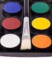 Wodnej farby paleta obraz stock