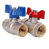 Wodni Faucets dla domowej dostawy wody lub hearting systemów obraz stock