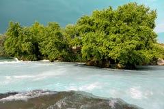 Wodni gwałtowni Halna rzeka, lasowej zieleni gwałtownego siklawa Halna rzeka, piękna halna tłum woda Zdjęcie Royalty Free