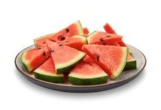 Wodni melonów plasterki Zdjęcia Royalty Free