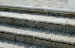 Wodni spada puszków schodki Obraz Stock
