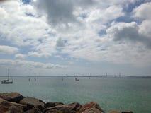 Wodni sporty w morzu zdjęcie royalty free