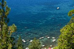 Wodniactwo na Jeziornym Tahoe Zdjęcie Stock