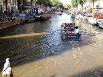 Wodniactwo w Amsterdam, holandie obrazy stock