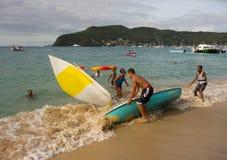 Wodniactwo zabawa w dowietrznych wyspach na Niedziela Zdjęcie Stock