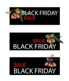 Wodny Apple na Black Friday sprzedaży sztandarze Obraz Royalty Free
