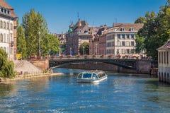 Wodny autobus w Strasburg Zdjęcia Royalty Free