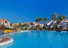 Wodny basen przy Tenerife wyspą Zdjęcia Royalty Free