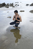 wodny joga fotografia stock