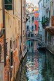Wodny kanał, Wenecja, Włochy Obraz Royalty Free