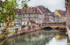 Wodny kanał w Colmar, Francja Obraz Stock