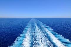 Wodny kilwater zdjęcie stock