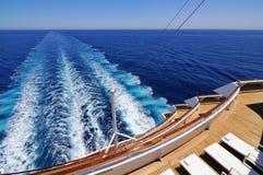 Wodny kilwater Obrazy Royalty Free