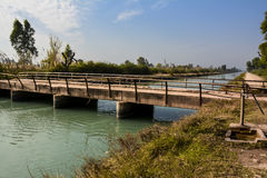 Wodny klepnięcie na Mohajir gałąź Kanałowym †& 'północny Pundżab Pakistan Obrazy Stock