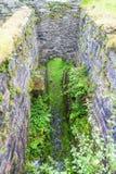 Wodny koło jamy Pont y Panda łupku disused młyn, północny Wales, UK Obraz Royalty Free