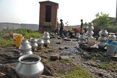 Wodny kryzys w Jharia Obraz Stock